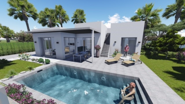 moderne strand bungalows te koop costa calida spanje