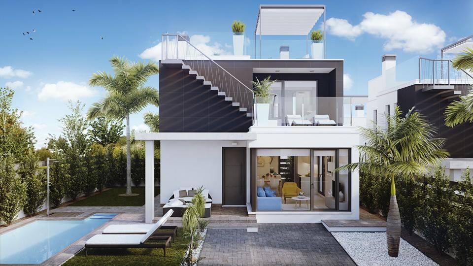 Moderne huizen te koop orihuela costa spanje spanje specials for Terras modern huis