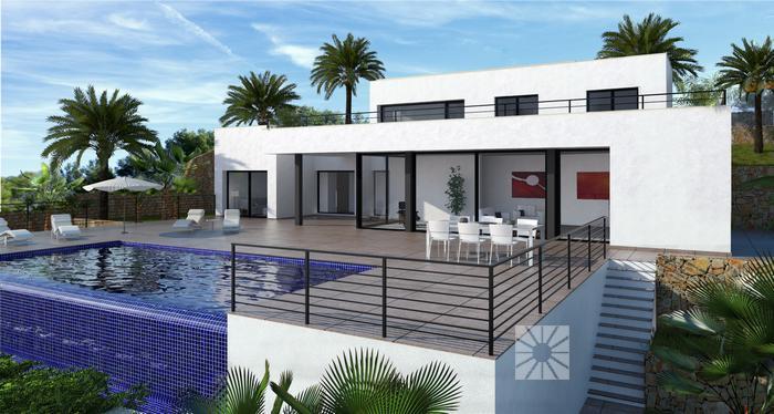 Te koop zeer luxe villa zeezicht costa blanca spanje specials for Modern huis binnenhuisarchitectuur villas