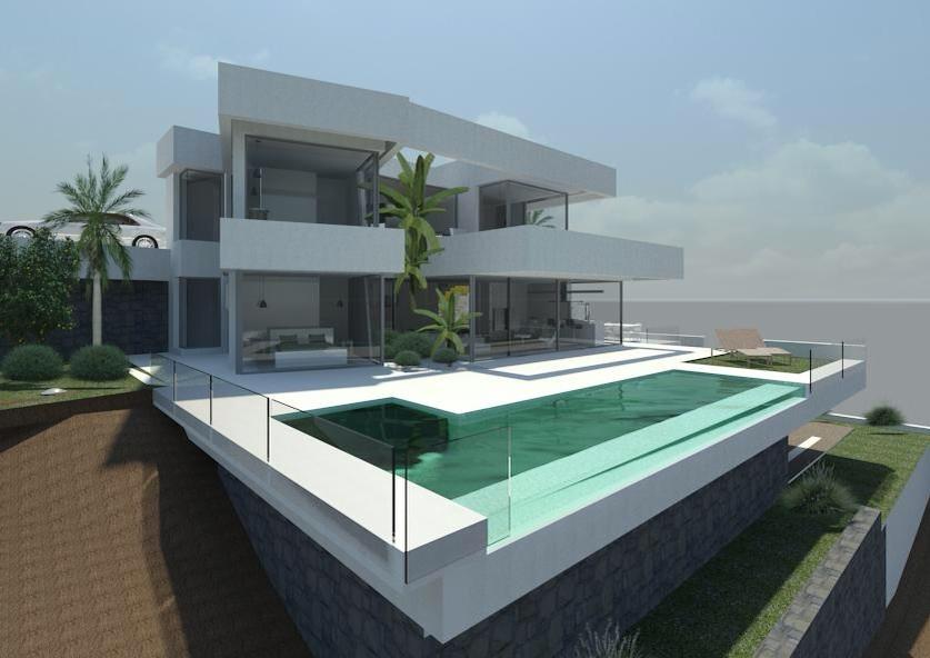 Calpe luxe moderne nieuwe villa costa blanca spanje specials for Modern huis binnenhuisarchitectuur villas