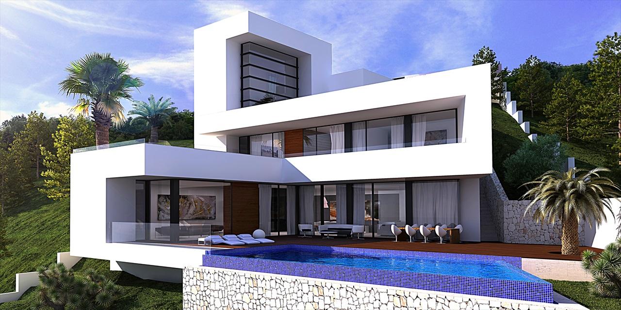 Moderne villa met zeezicht altea hills te koop spanje specials for Moderne kleedkamer