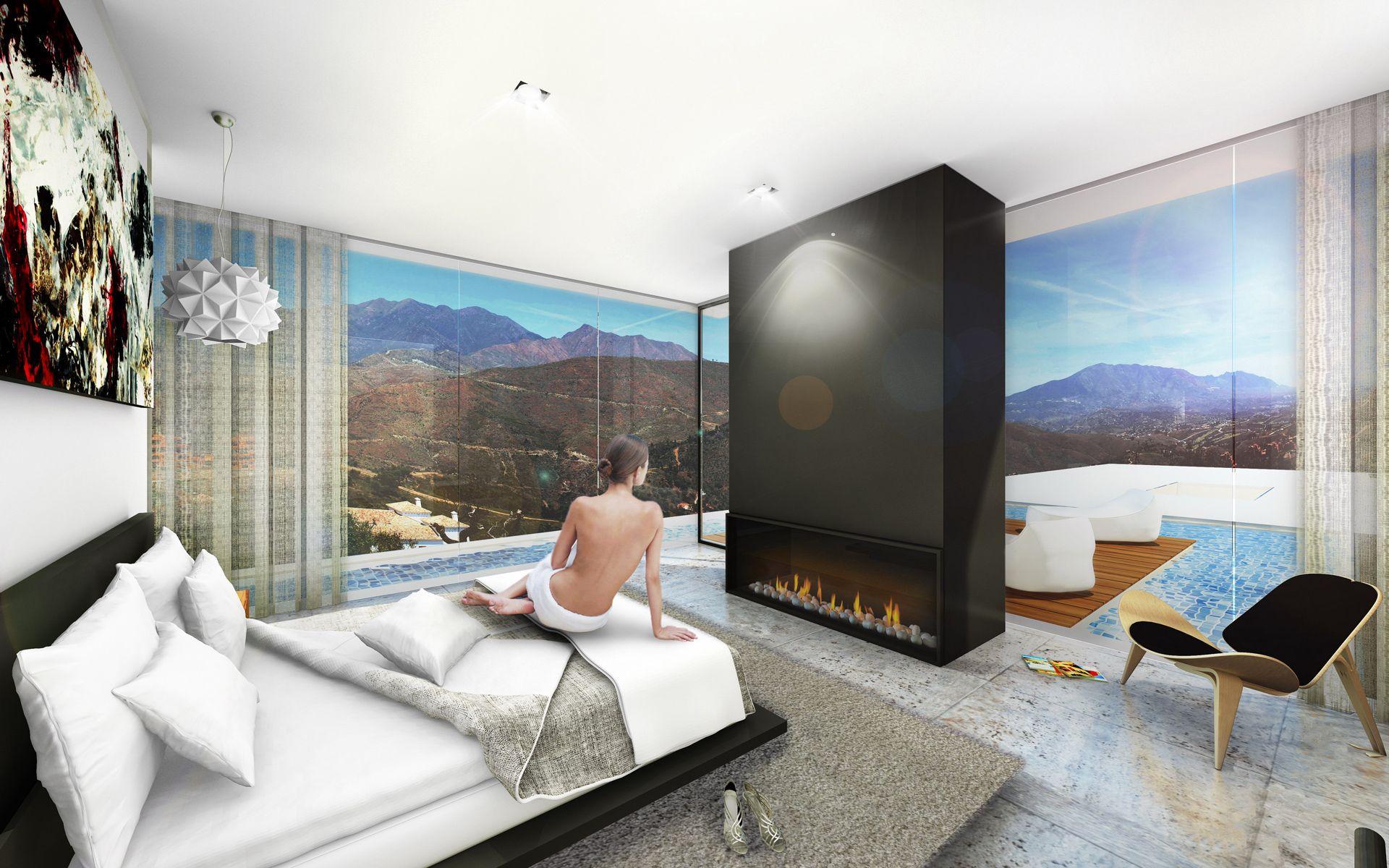 luxe moderne villa kopen aan de costa del sol spanje. Black Bedroom Furniture Sets. Home Design Ideas