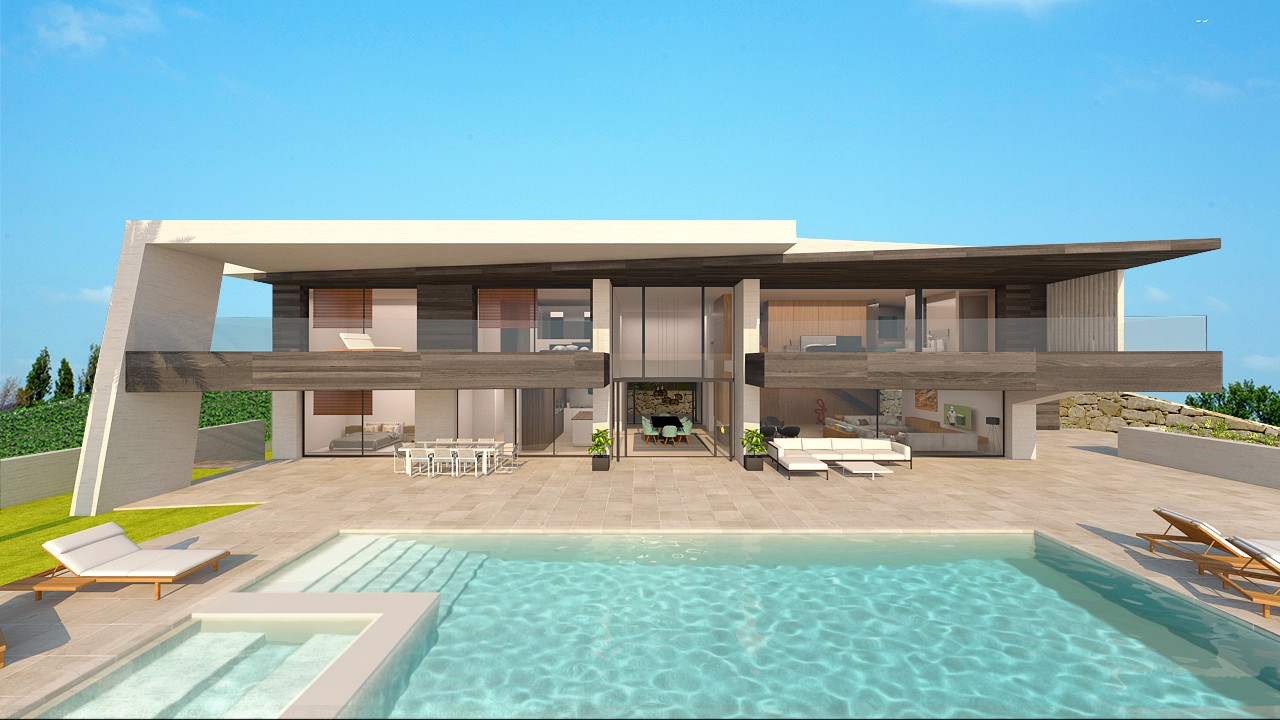 Moderne luxe nieuwbouw villa te koop nueva andalucia spanje specials for Moderne kleedkamer