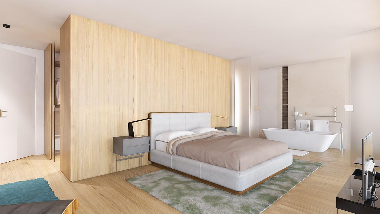 Moderne luxe nieuwbouw villa te koop nueva andalucia spanje specials - Ouderlijke suite met badkamer en kleedkamer ...