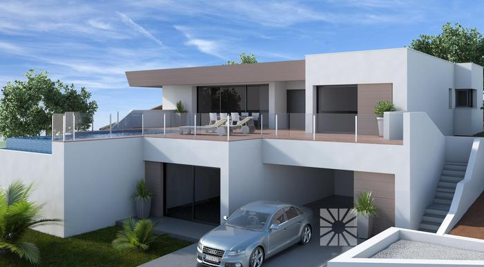 Luxe villa s met zeezicht costa blanca spanje specials - Fotos chalets modernos ...