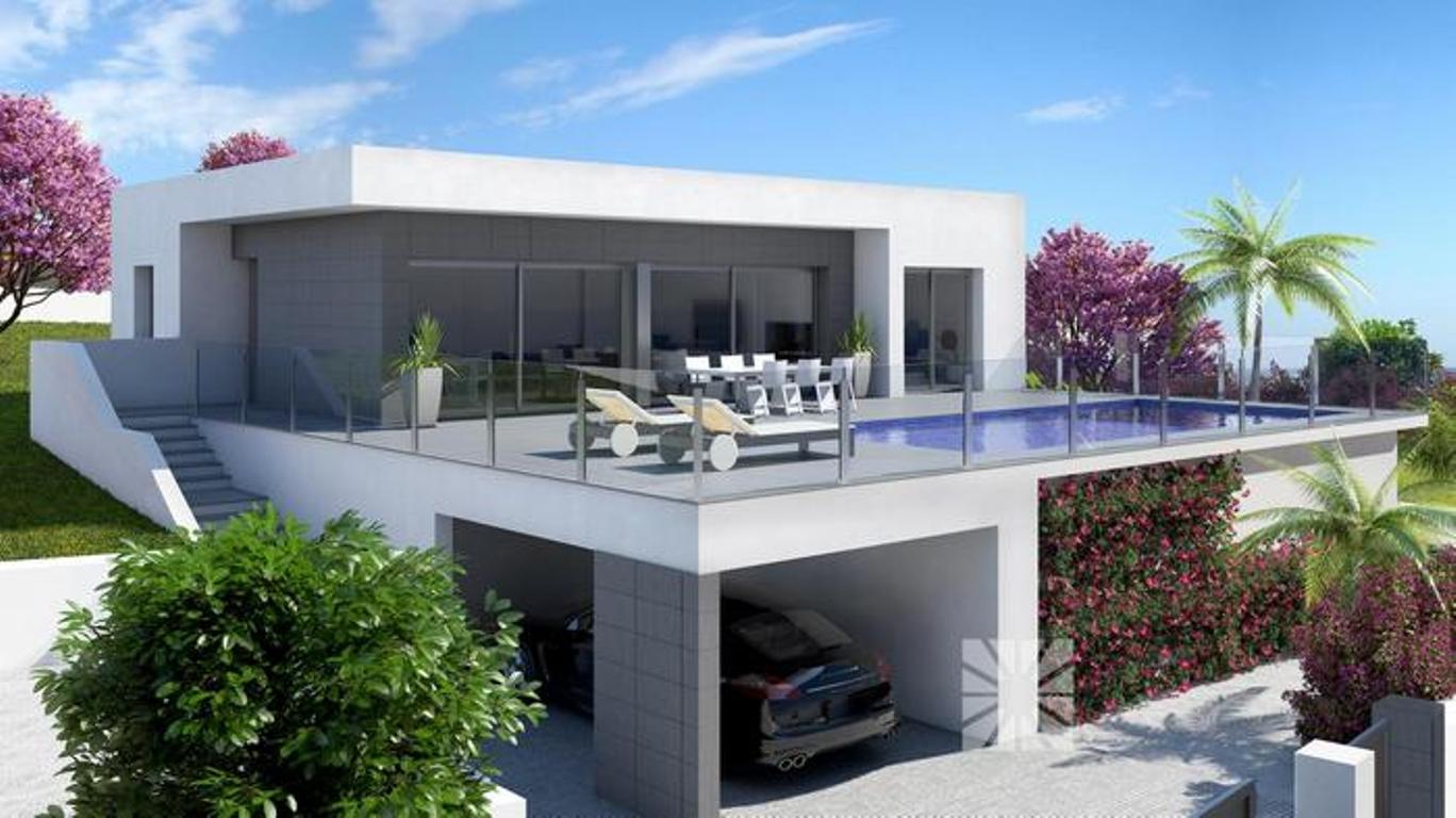 Luxe moderne villa s in aanbouw te koop spanje spanje for Grande villa luxe moderne