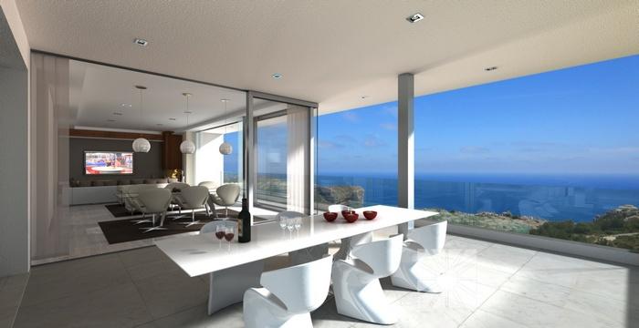 luxe villa met panoramisch zeezicht costa blanca spanje specials. Black Bedroom Furniture Sets. Home Design Ideas