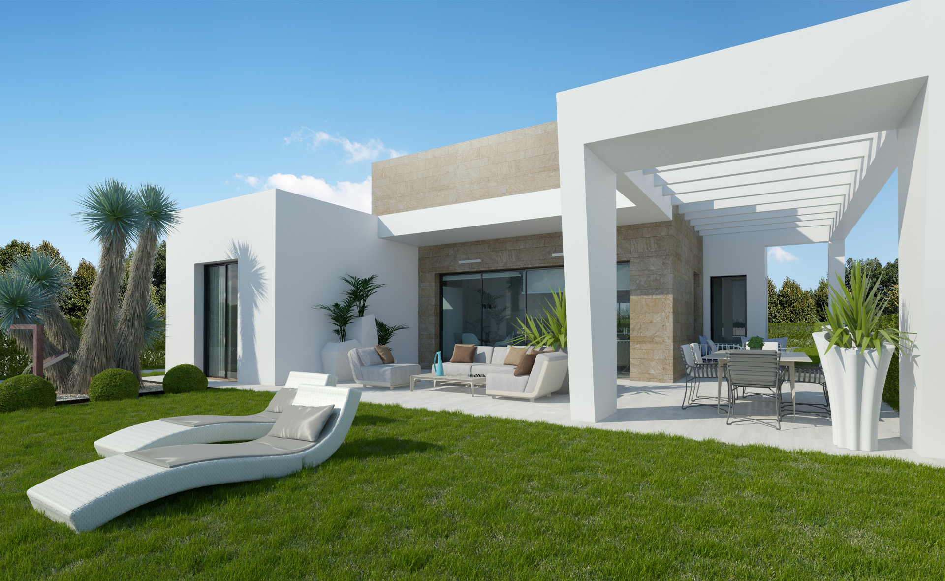 moderne villa op golfresort algorfa te koop spanje specials. Black Bedroom Furniture Sets. Home Design Ideas