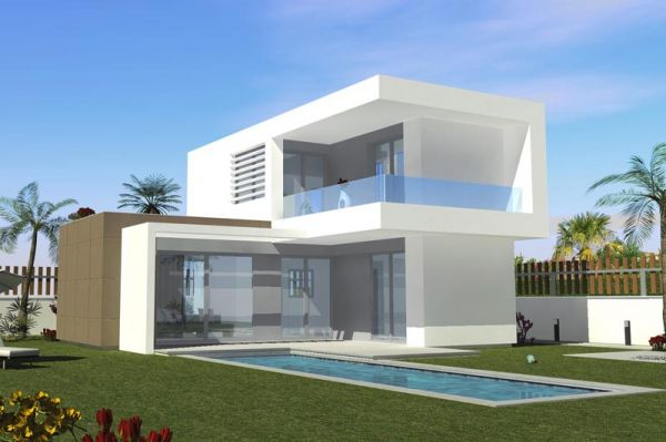 Moderne luxe nieuwbouw villa s in golfresort costa blanca for Moderne villa