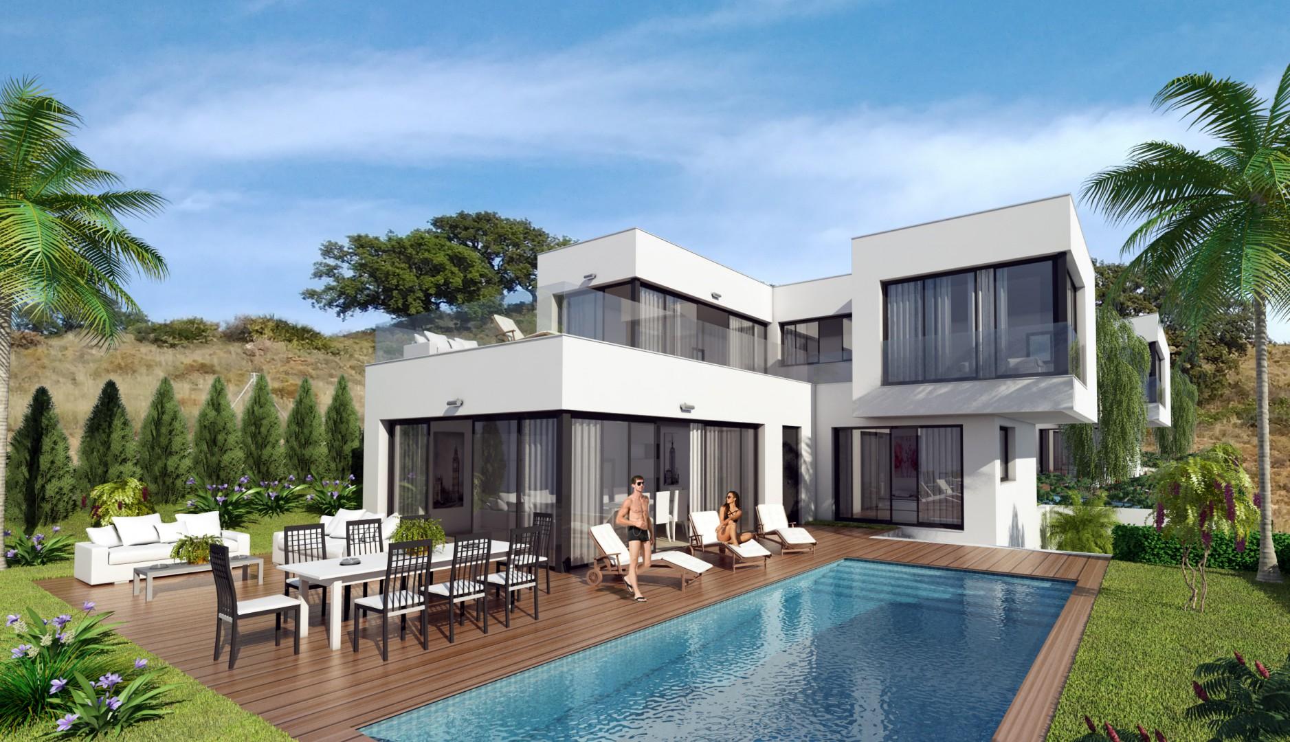 moderne luxe villa 39 s te koop costa del sol spanje specials. Black Bedroom Furniture Sets. Home Design Ideas