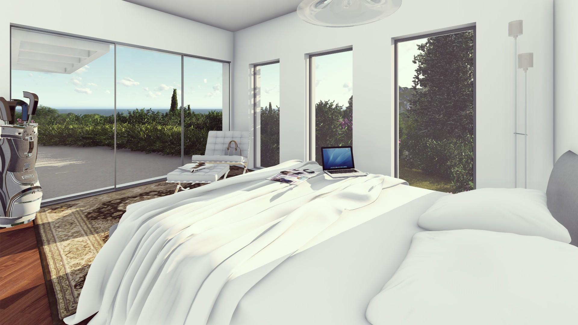 Moderne luxe villa op groot perceel costa del sol spanje specials - Eigentijdse design slaapkamer ...
