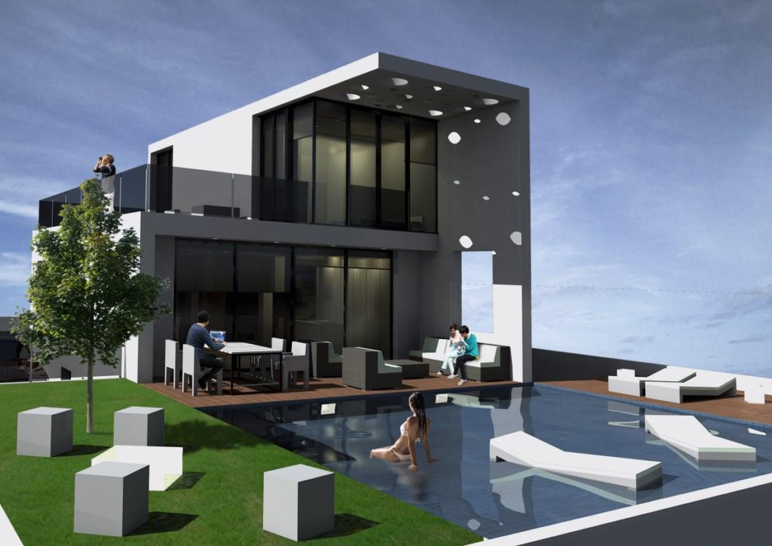 Nieuwbouw villa 39 s met zeezicht costa blanca spanje specials - Disenos de chalets modernos ...