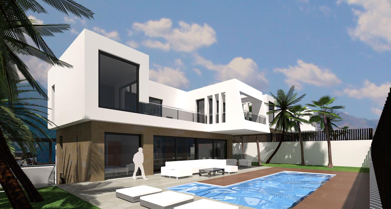 Finestrat nieuwe moderne villa met zeezicht spanje specials - Moderne wasruimte ...