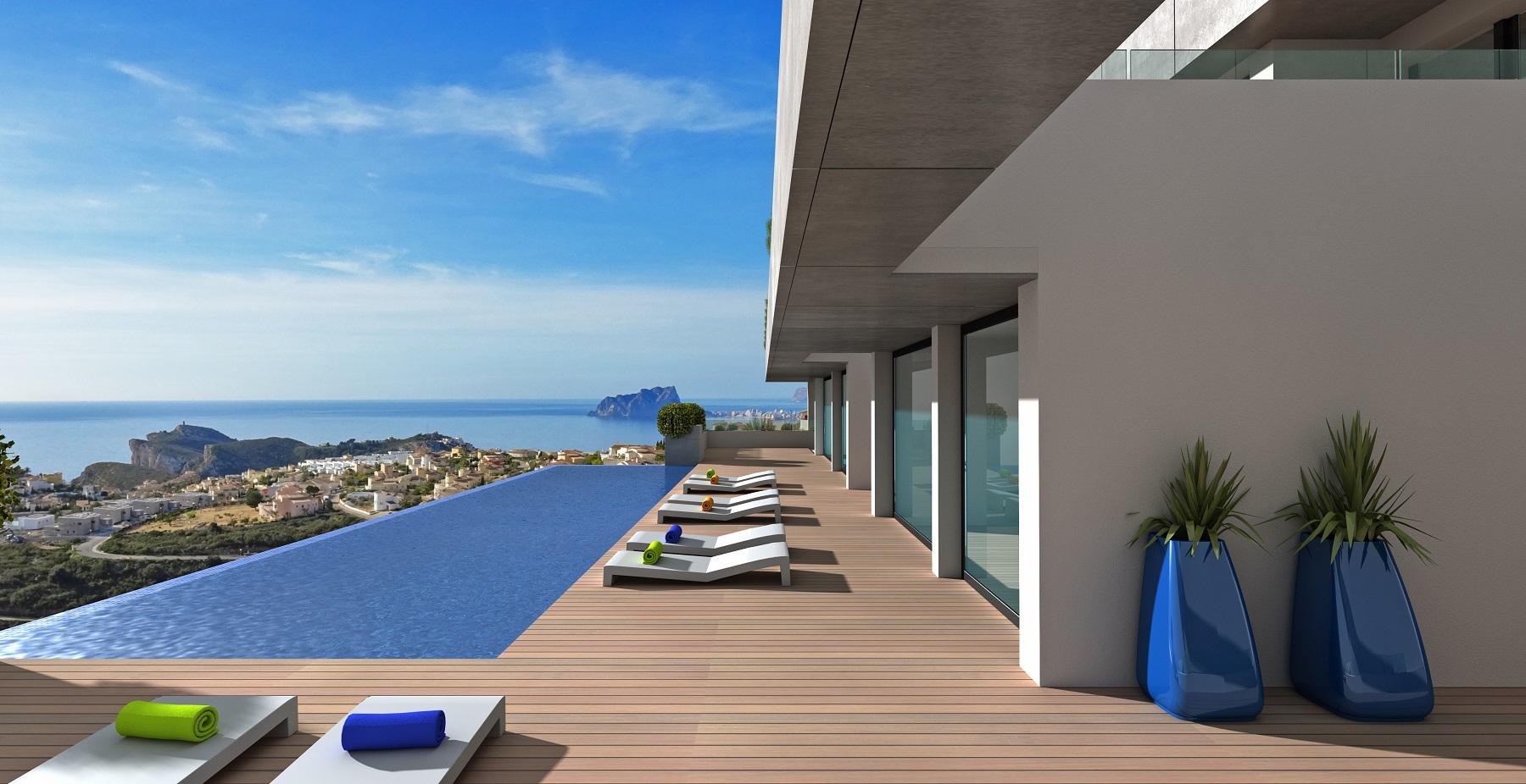 Luxe appartementen met panoramisch zeezicht Benitachell