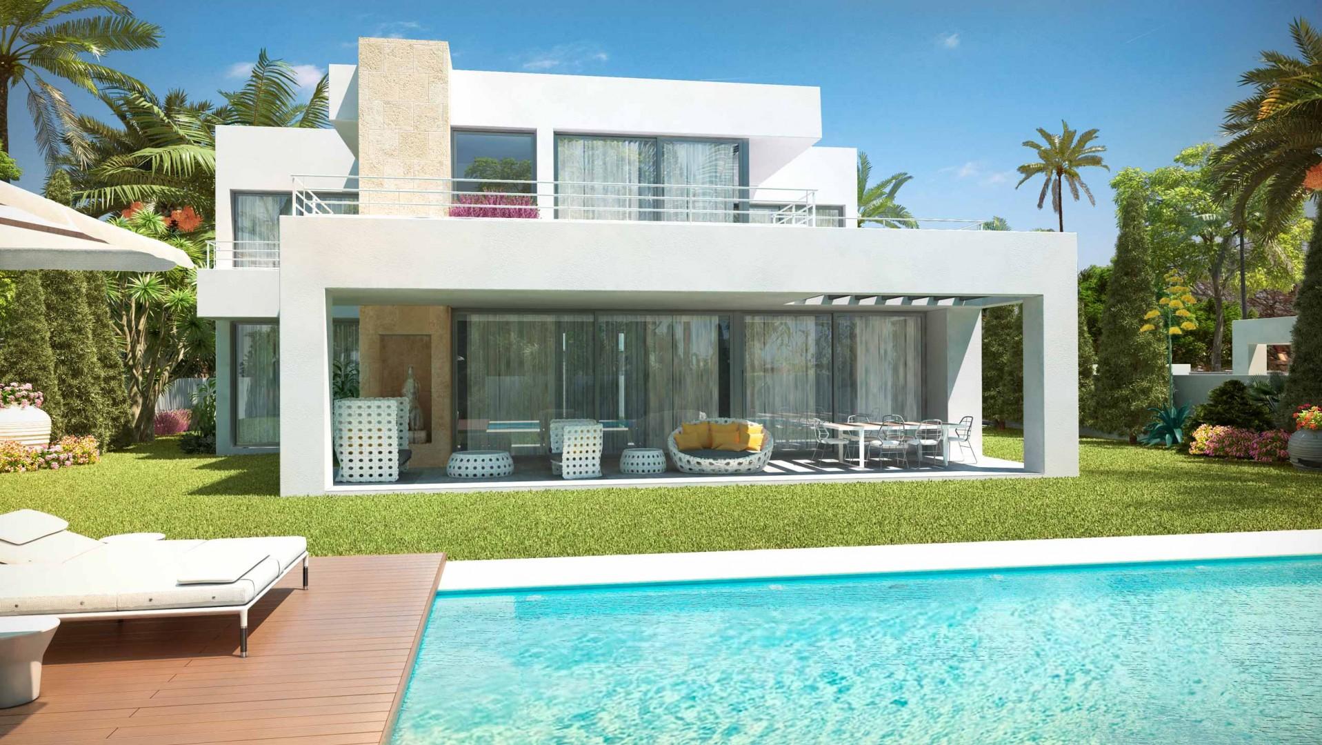 Nieuwe moderne villa te koop new golden mile in estepona spanje specials - Moderne wasruimte ...