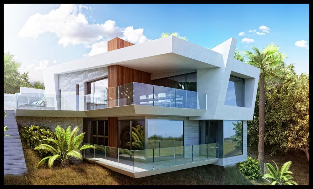 Nieuwbouw moderne villa in altea spanje specials - Moderne slaapkamer met kleedkamer ...
