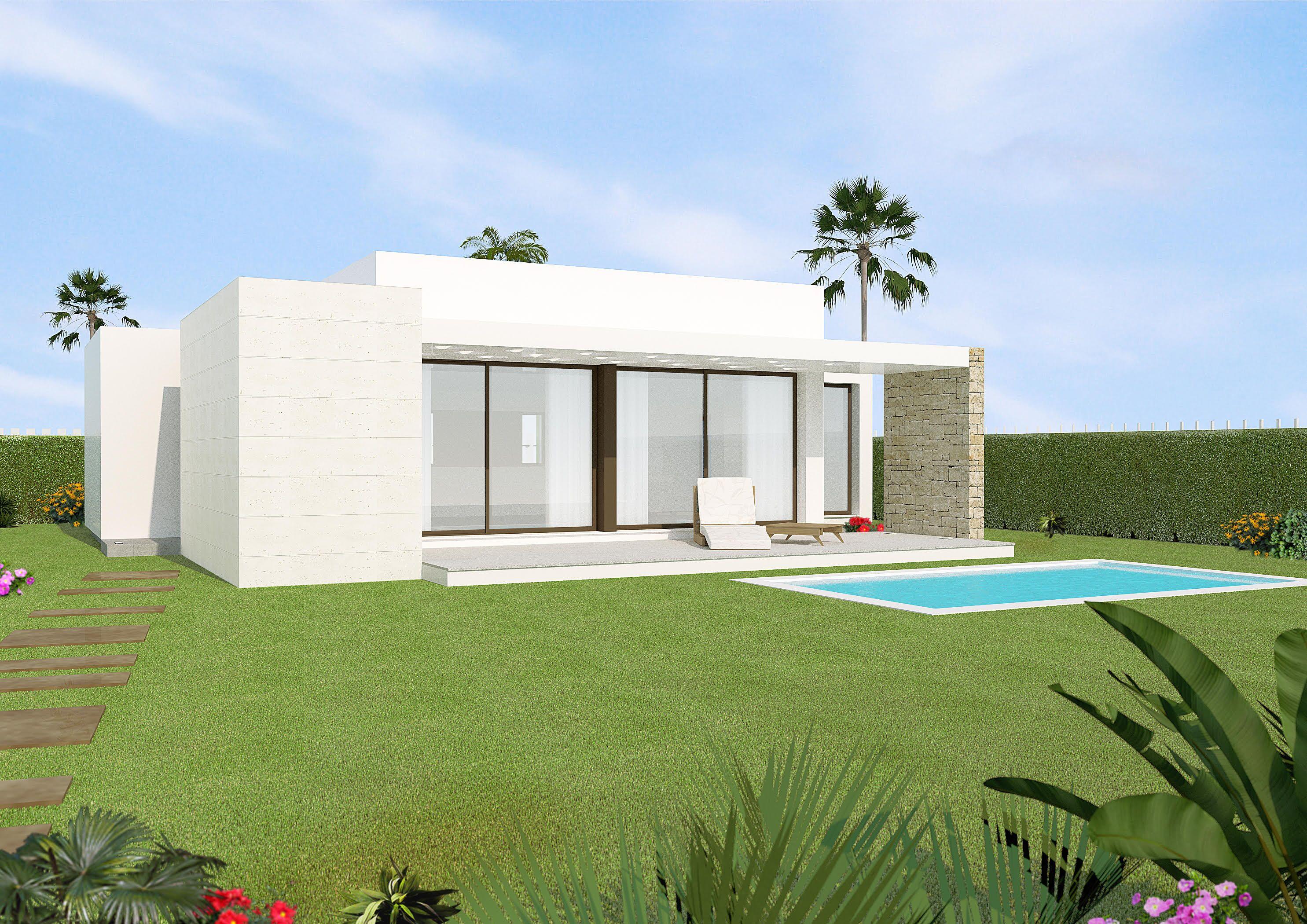 Anspruchsvoll Moderne Bungalows Ideen Von Nieuwe Op Golfterrein Orihuela Costa