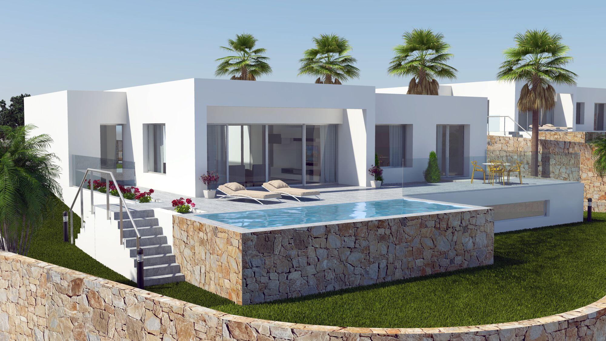 moderne bungalows op 5* golfresort met zeezicht - spanje specials - Moderne Bungalows