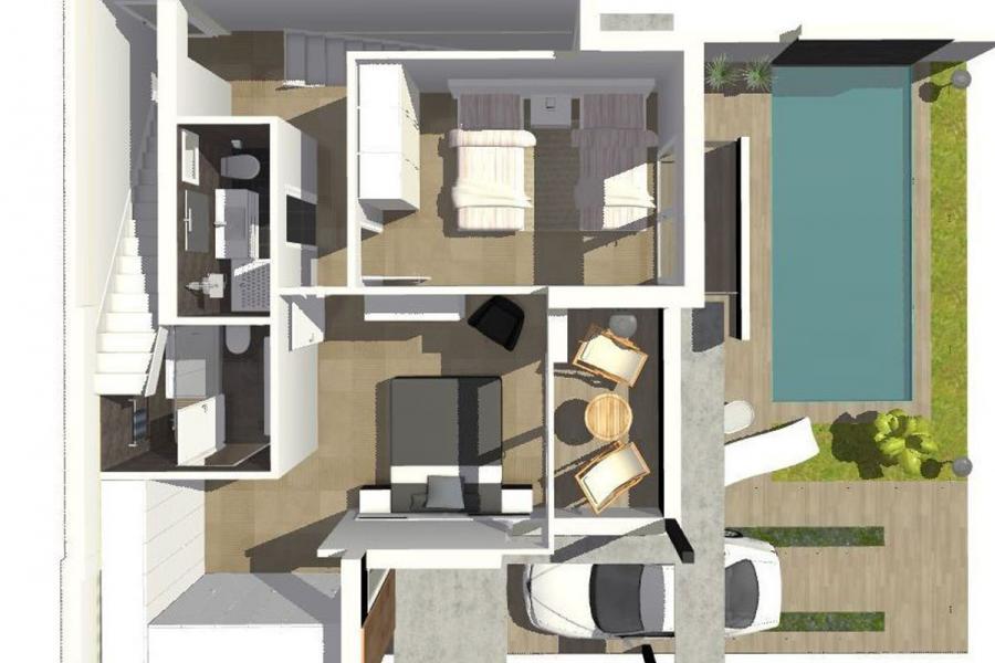 Moderne villa 39 s nabij alle voorzieningen orihuela costa spanje specials - Ouderlijke suite met badkamer en kleedkamer ...