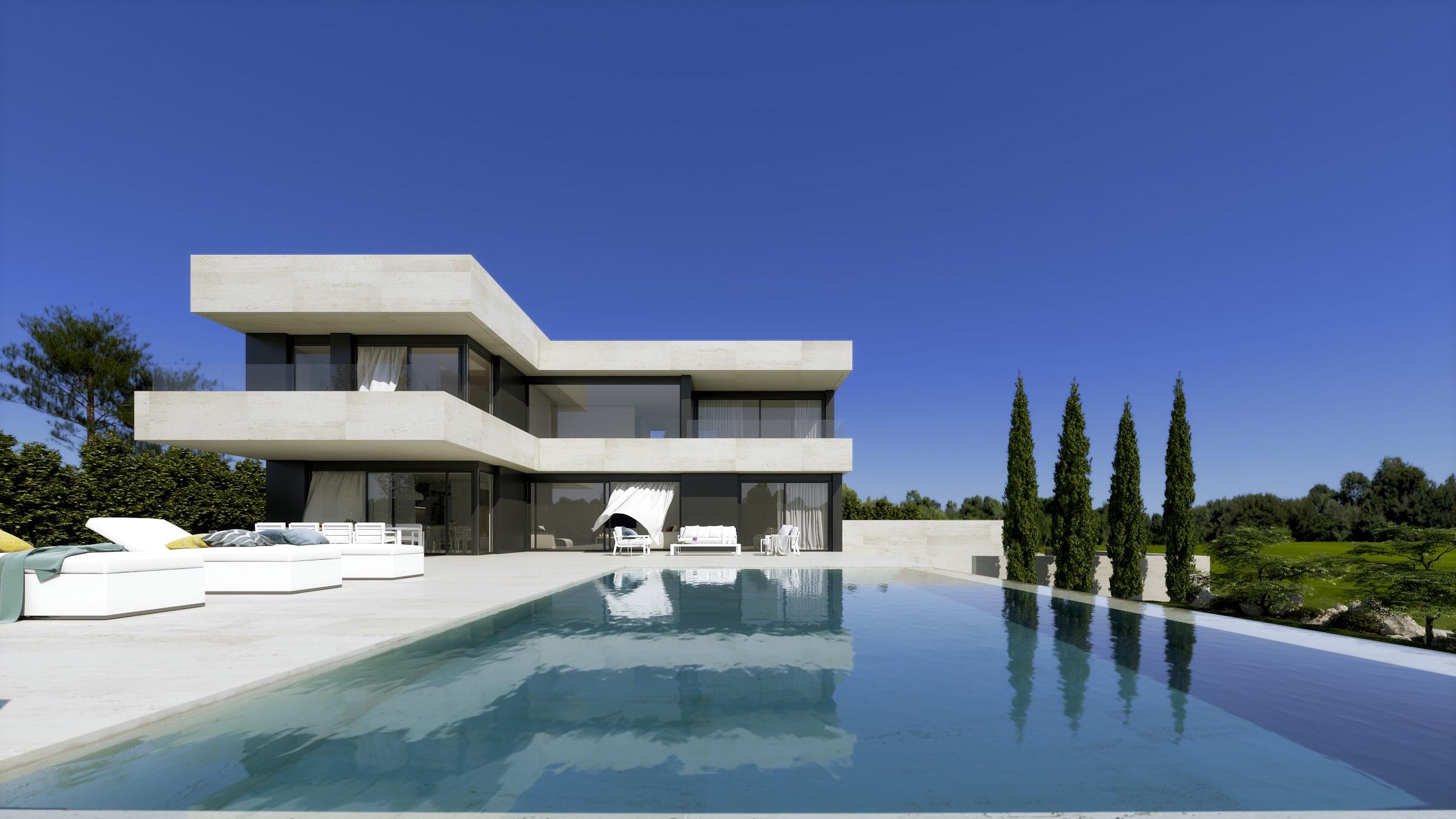 Luxe villa met zeezicht finestrat costa blanca spanje for Moderne luxe villa