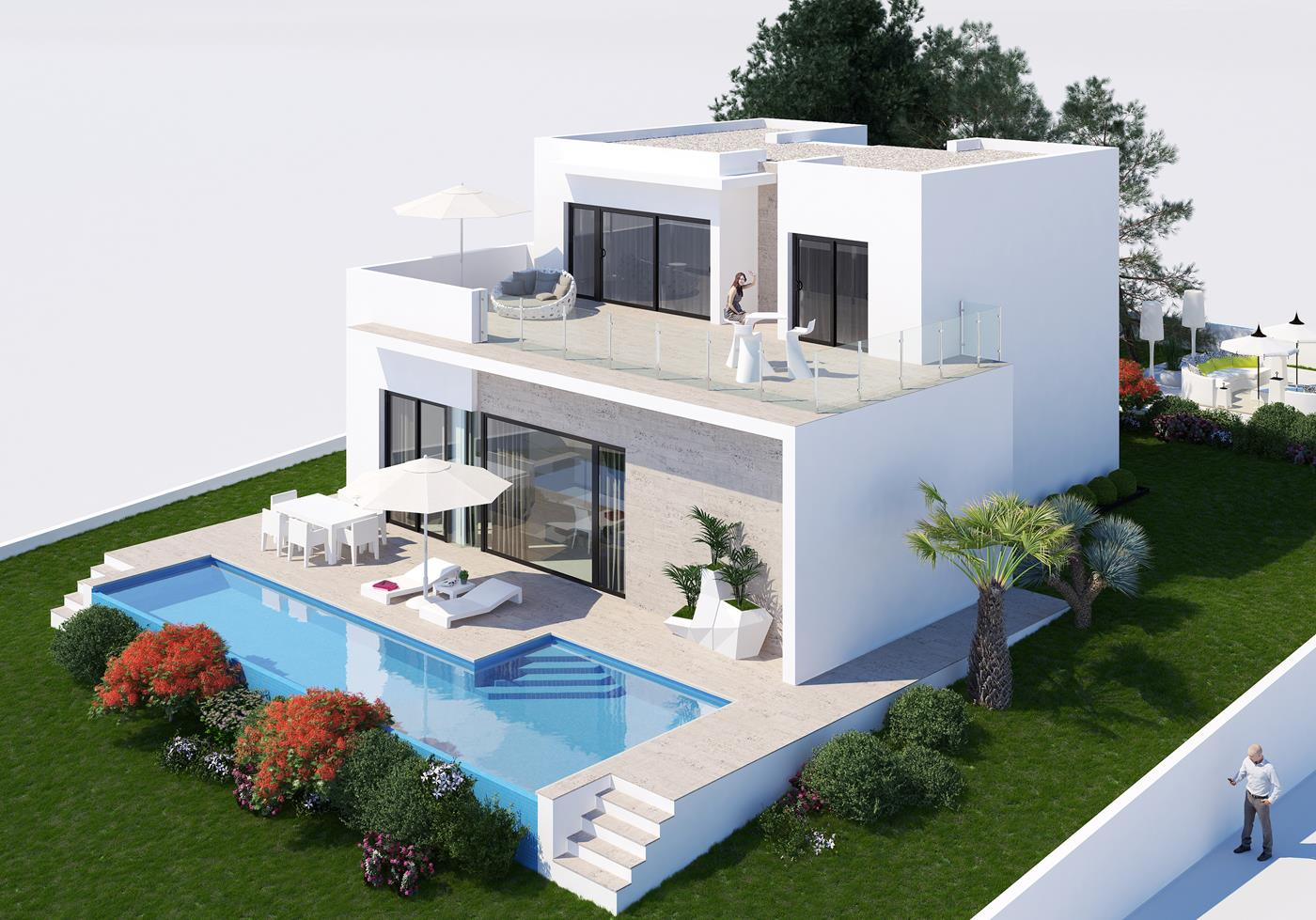Moderne villa in benissa spanje specials for Moderne villa