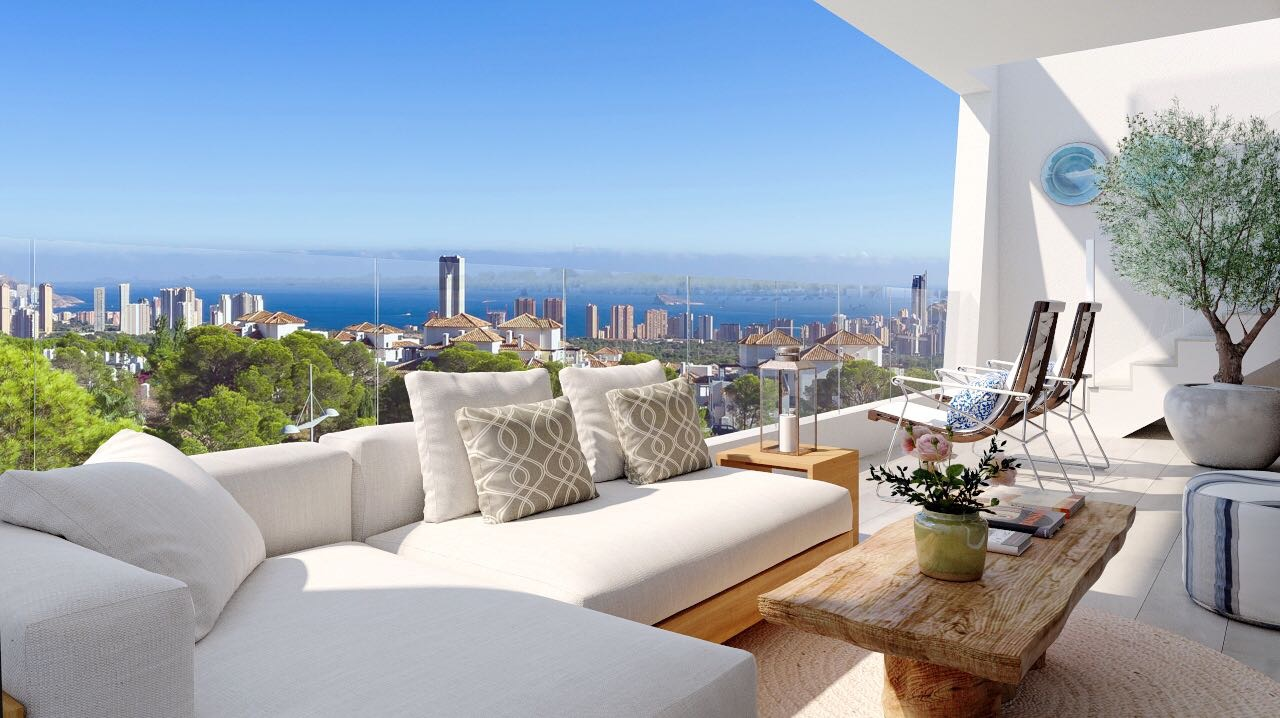 Moderne appartementen met zeezicht costa blanca spanje - Alquiler de pisos en villajoyosa ...