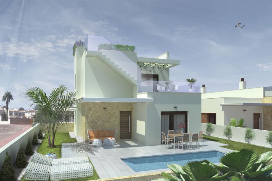 Half vrijstaande villa's met privé zwembad Costa Blanca Zuid