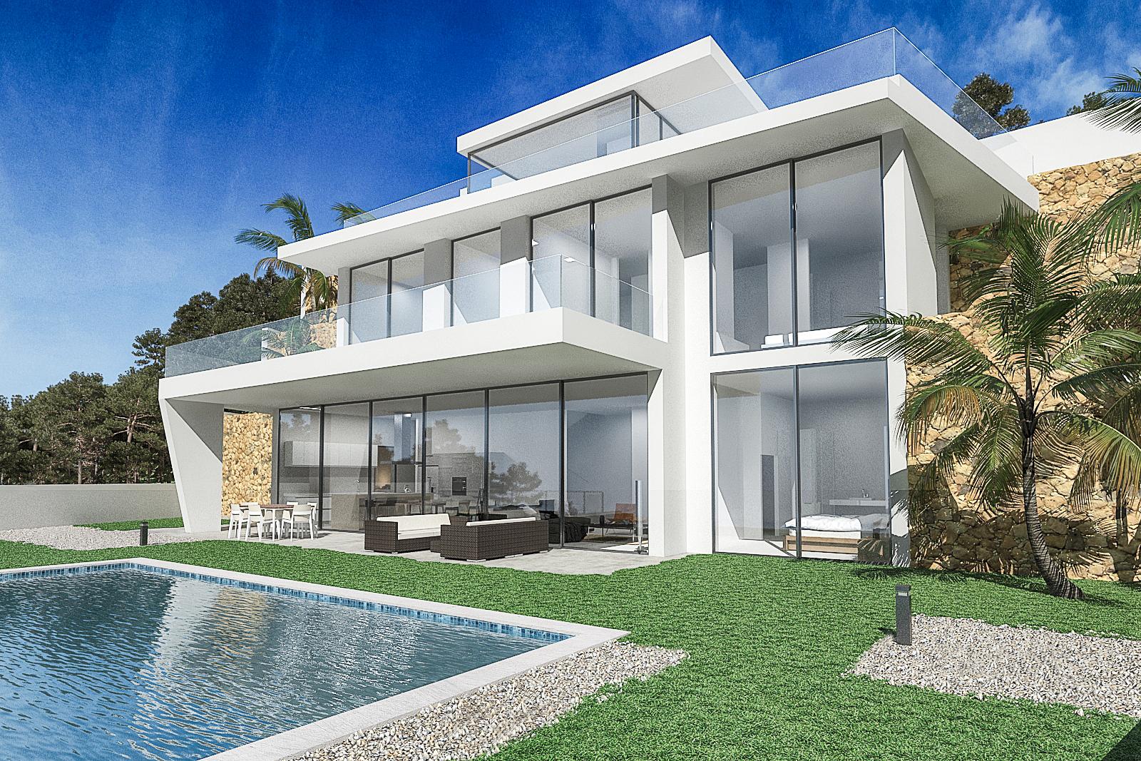 Moderne luxe zeezicht villa Altea