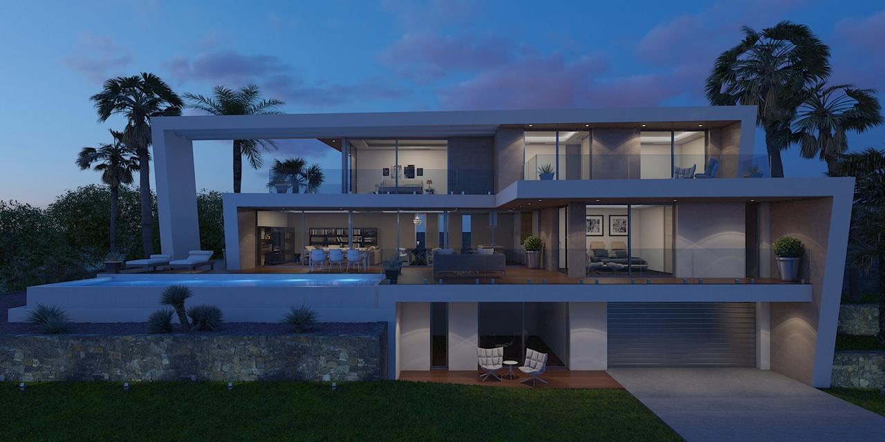 Moderne villa met zeezicht in javea spanje specials for Moderne kleedkamer