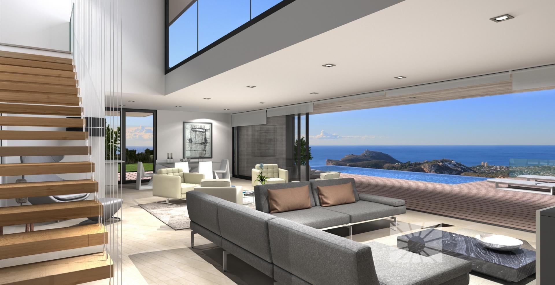 Luxe moderne zeezicht villa in benitachell spanje specials for Moderne luxe villa