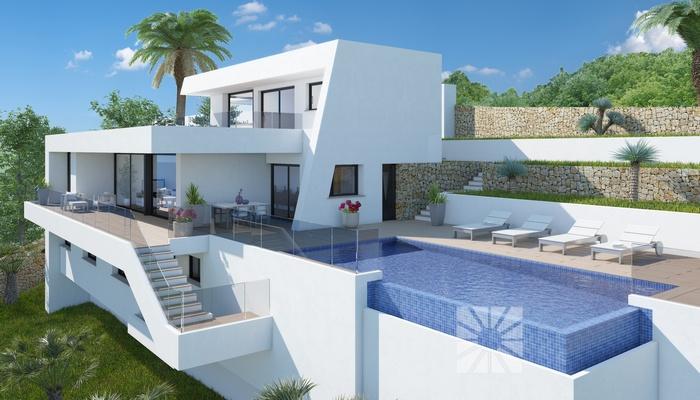 Luxe villa met panoramisch zeezicht benitachell spanje for Huis te koop in amerika