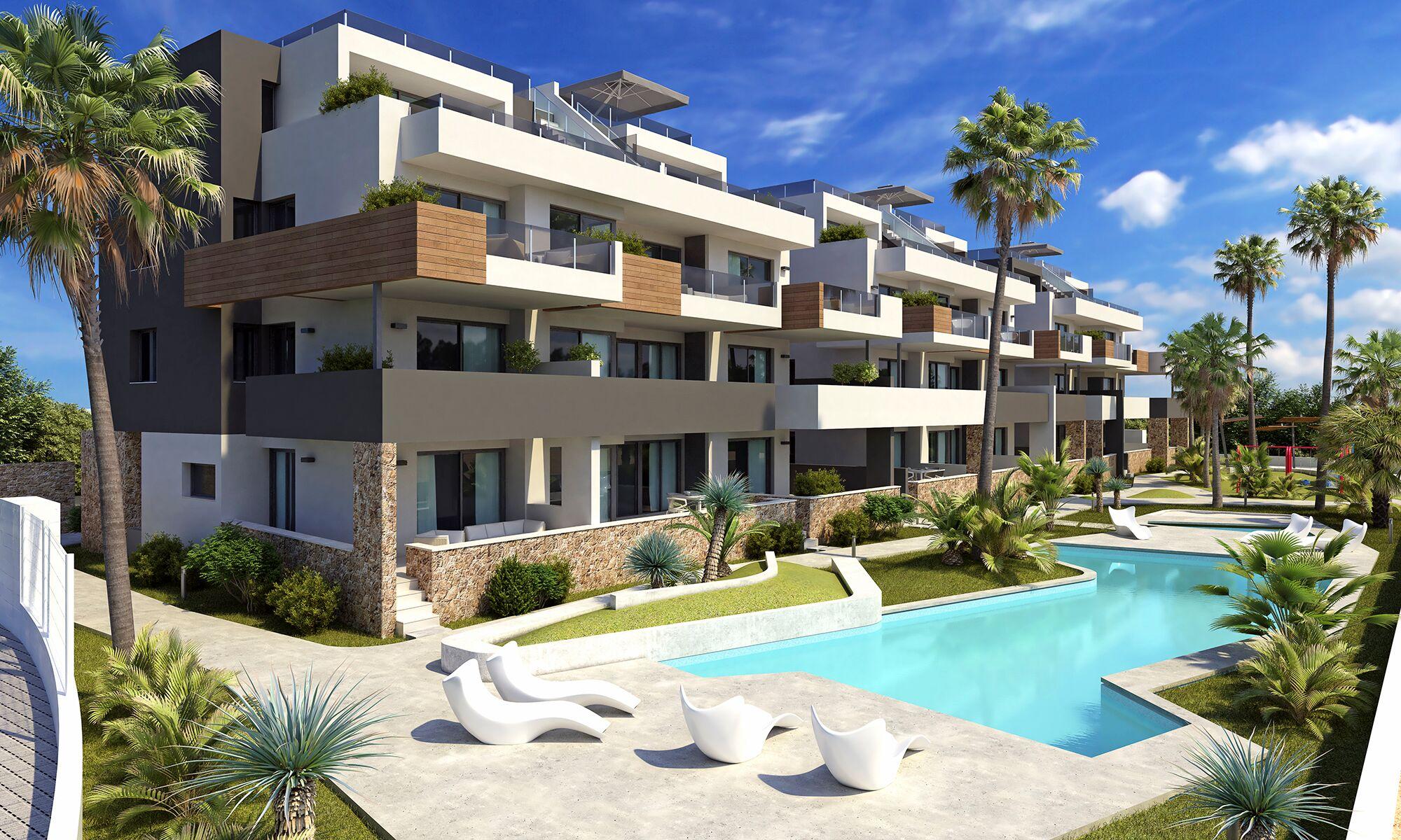 Nieuwe appartementen op goede locatie in Orihuela Costa