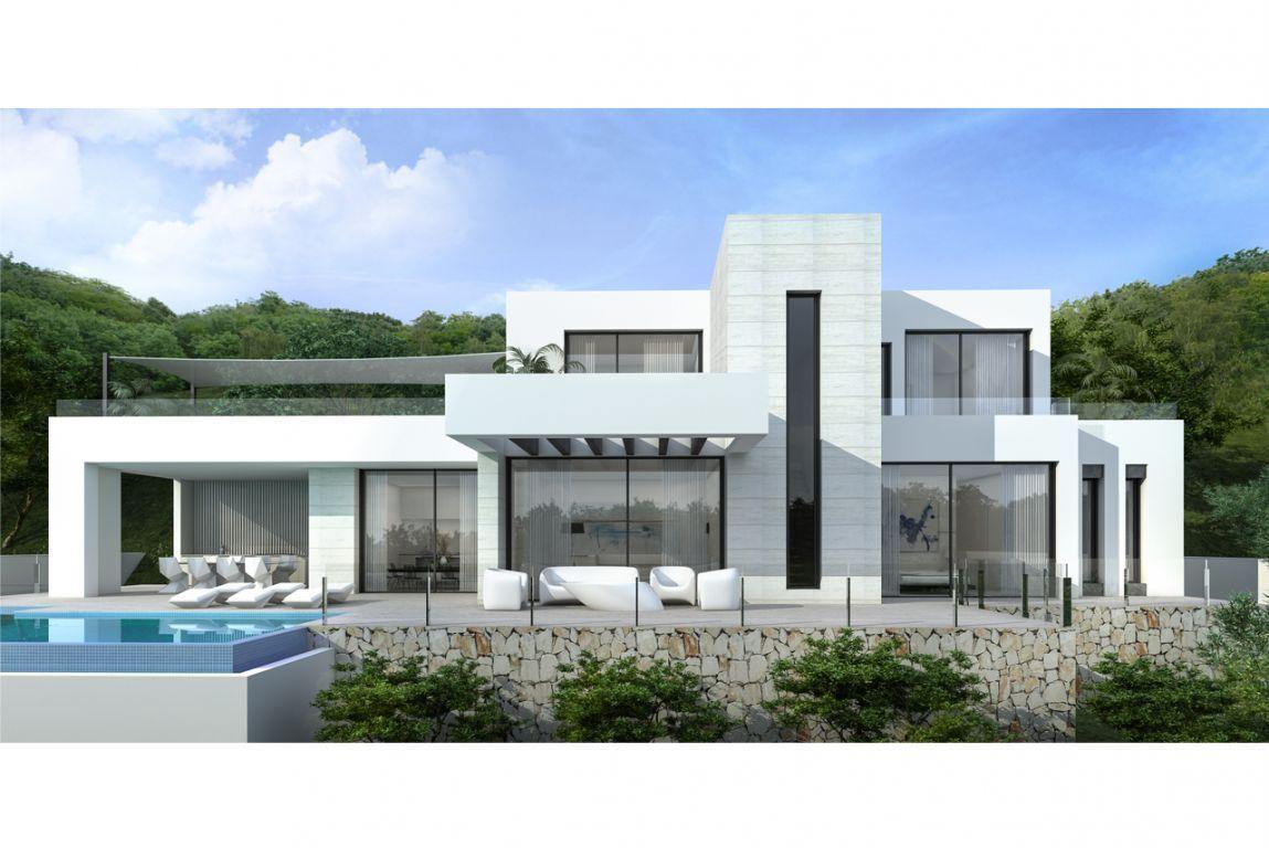 Moderne villa 39 s in moraira spanje specials - Moderne buitentrap ...