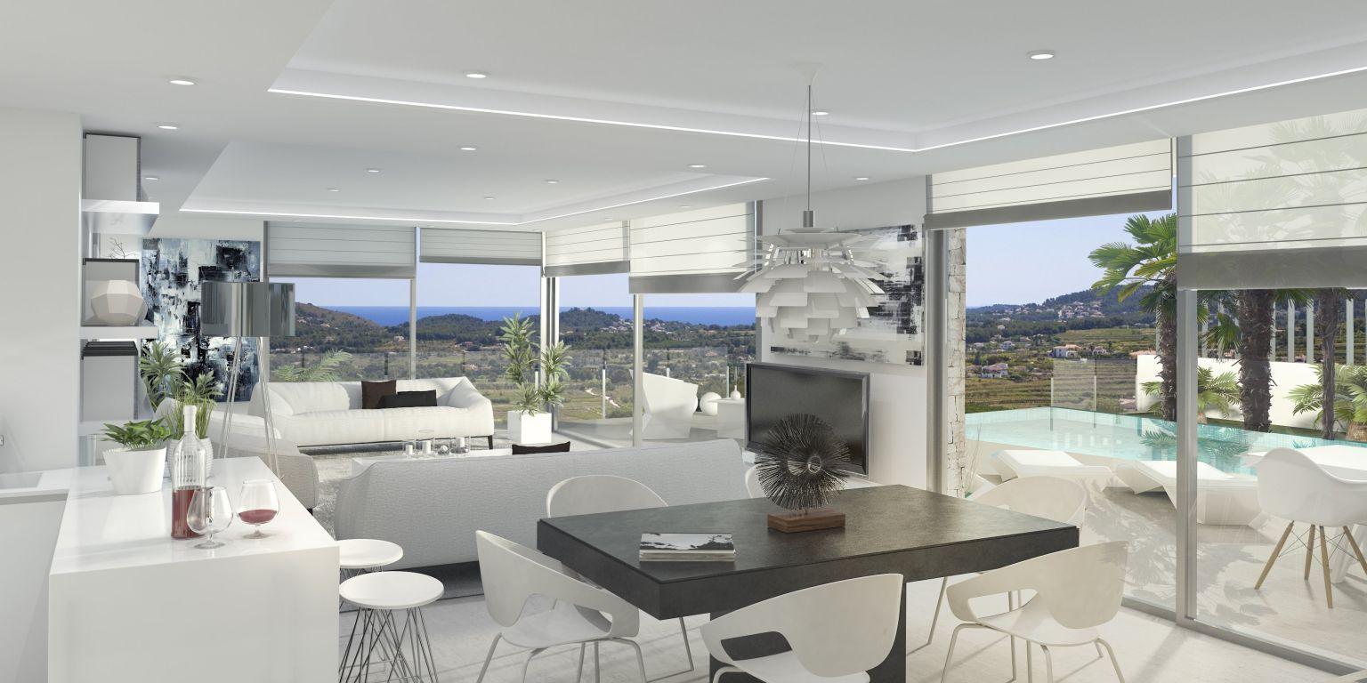 Luxe moderne villa in benitachell spanje specials - Moderne wasruimte ...