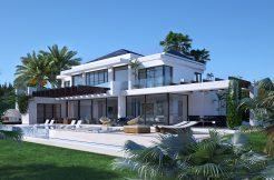 Moderne eerste lijn golf villa te koop in Marbella - Benahavis, La Alqueria.