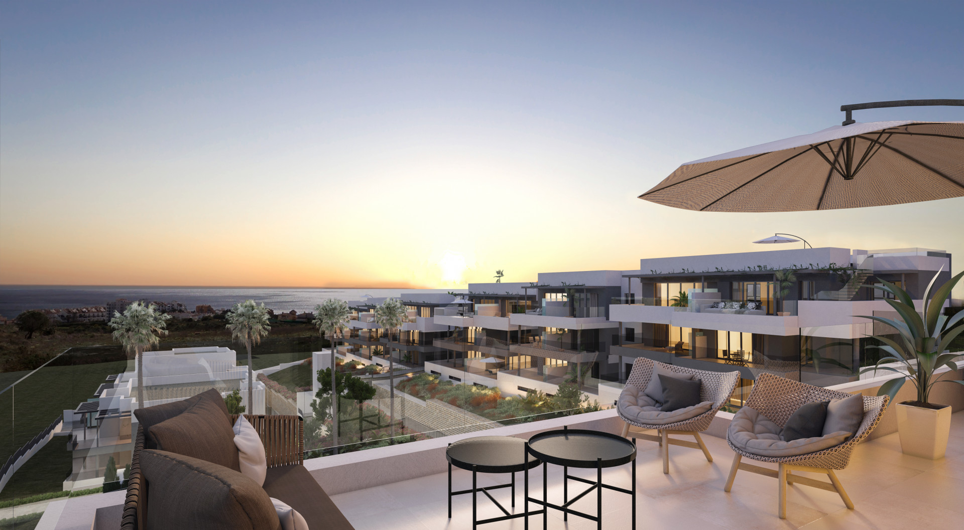 Moderne zeezicht appartementen Estepona