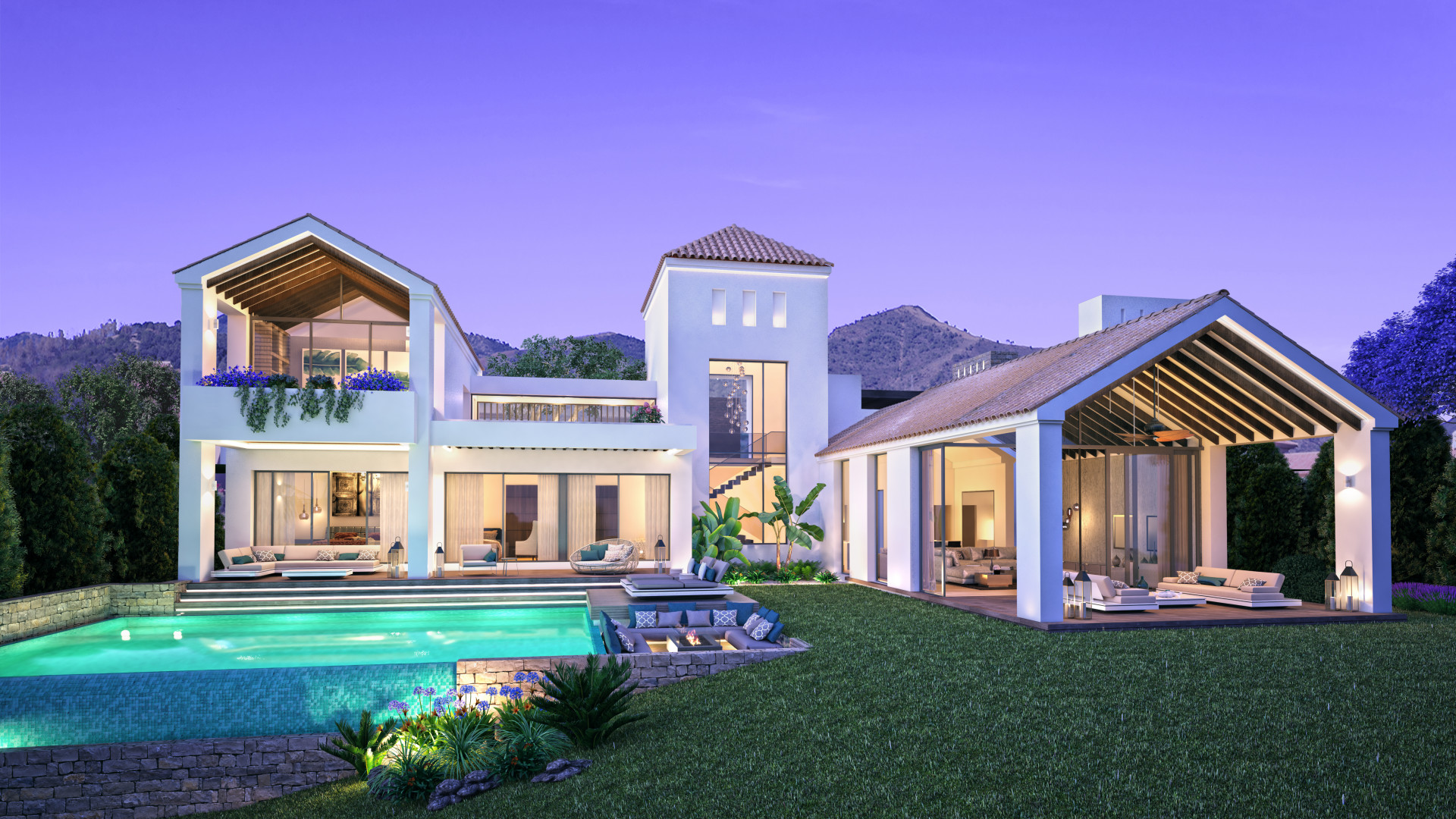 Moderne luxe villa 39 s op golfdomein in estepona spanje for Moderne luxe villa