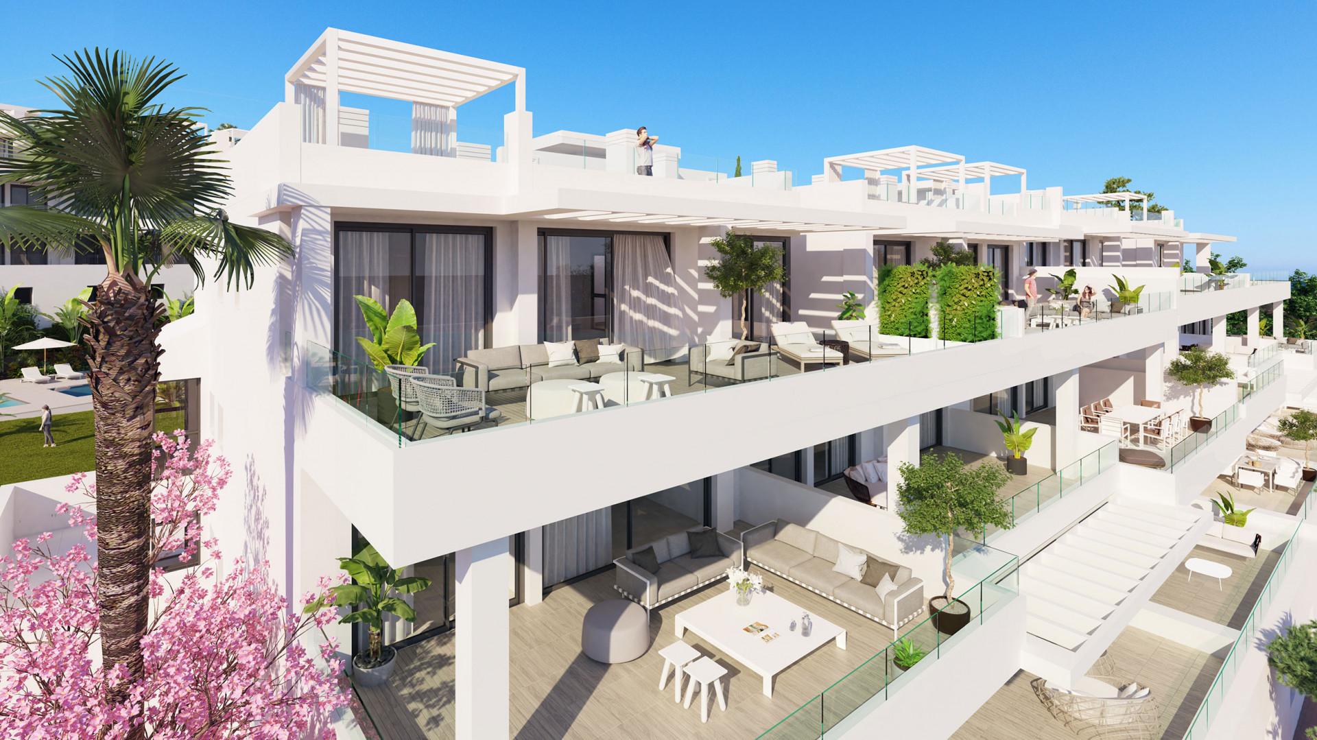 Moderne appartementen loopafstand strand van Estepona ...