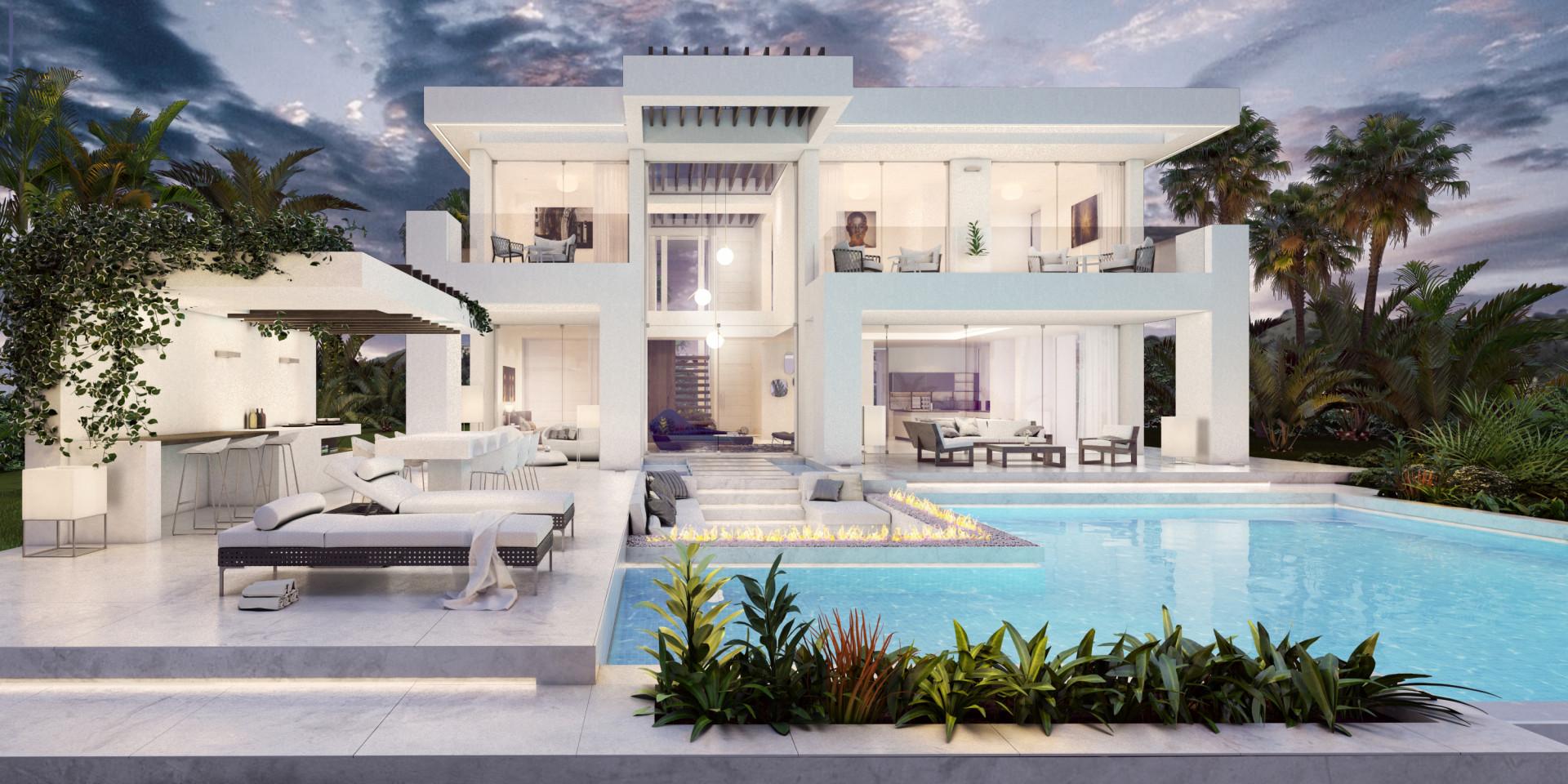 moderne zeezicht villa marbella riviera del sol