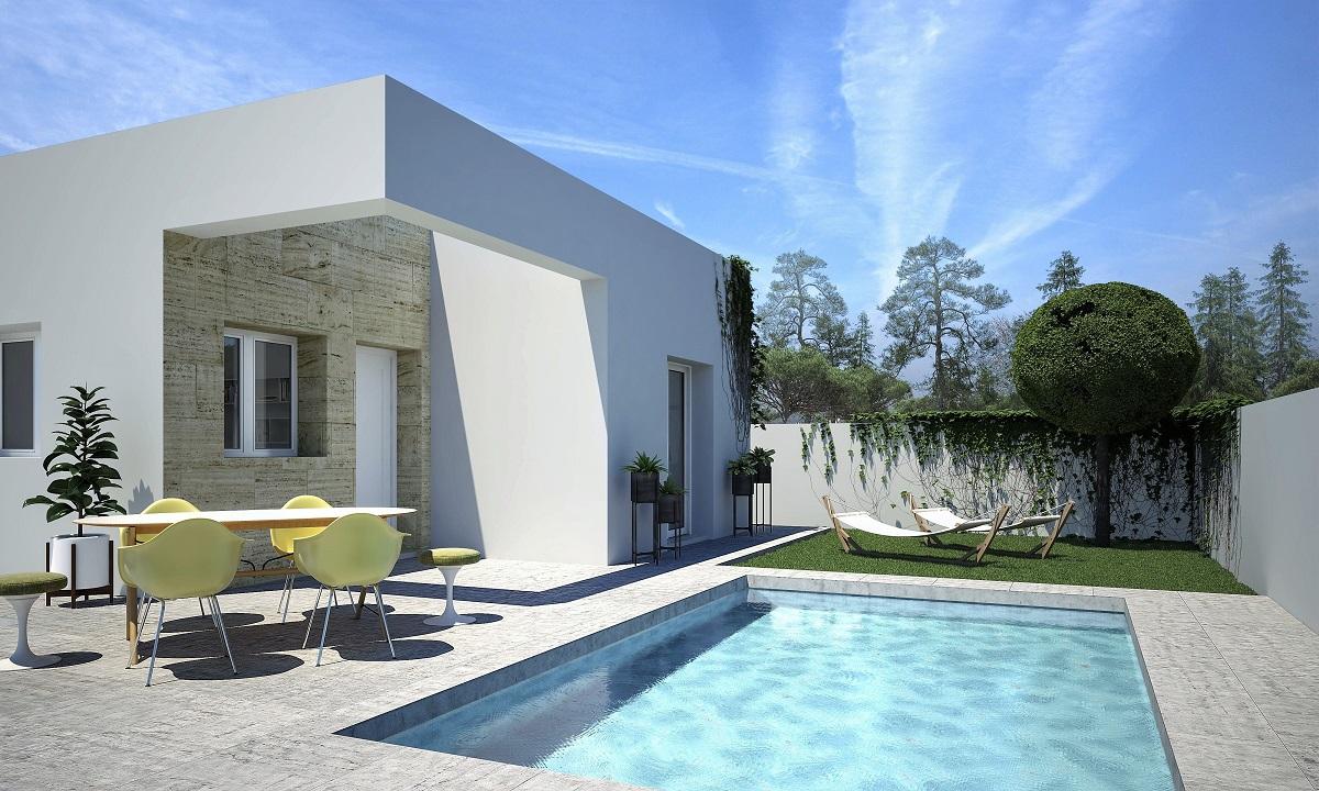 moderne bungalows met zwembad in Quesada