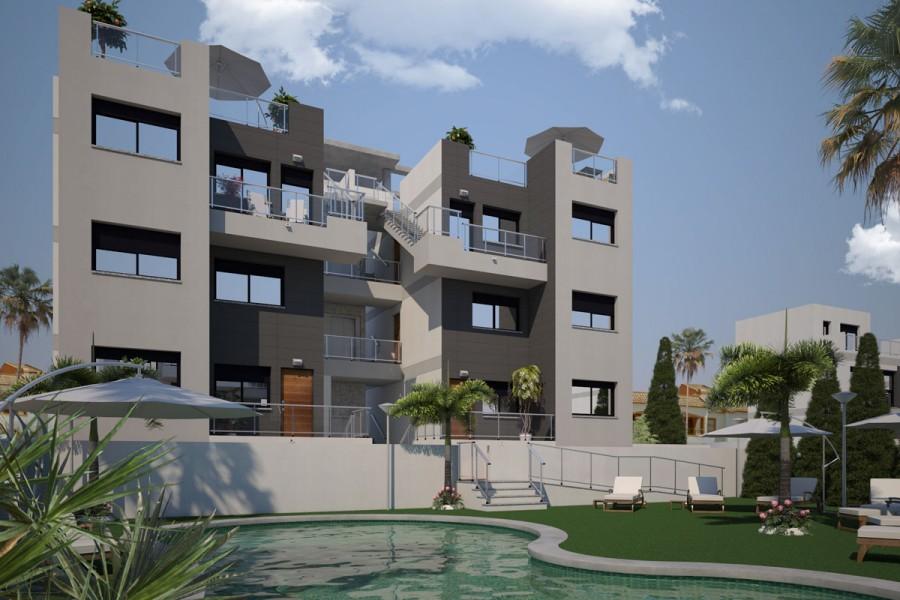 Appartementen op 500 meter van het strand in Torrevieja