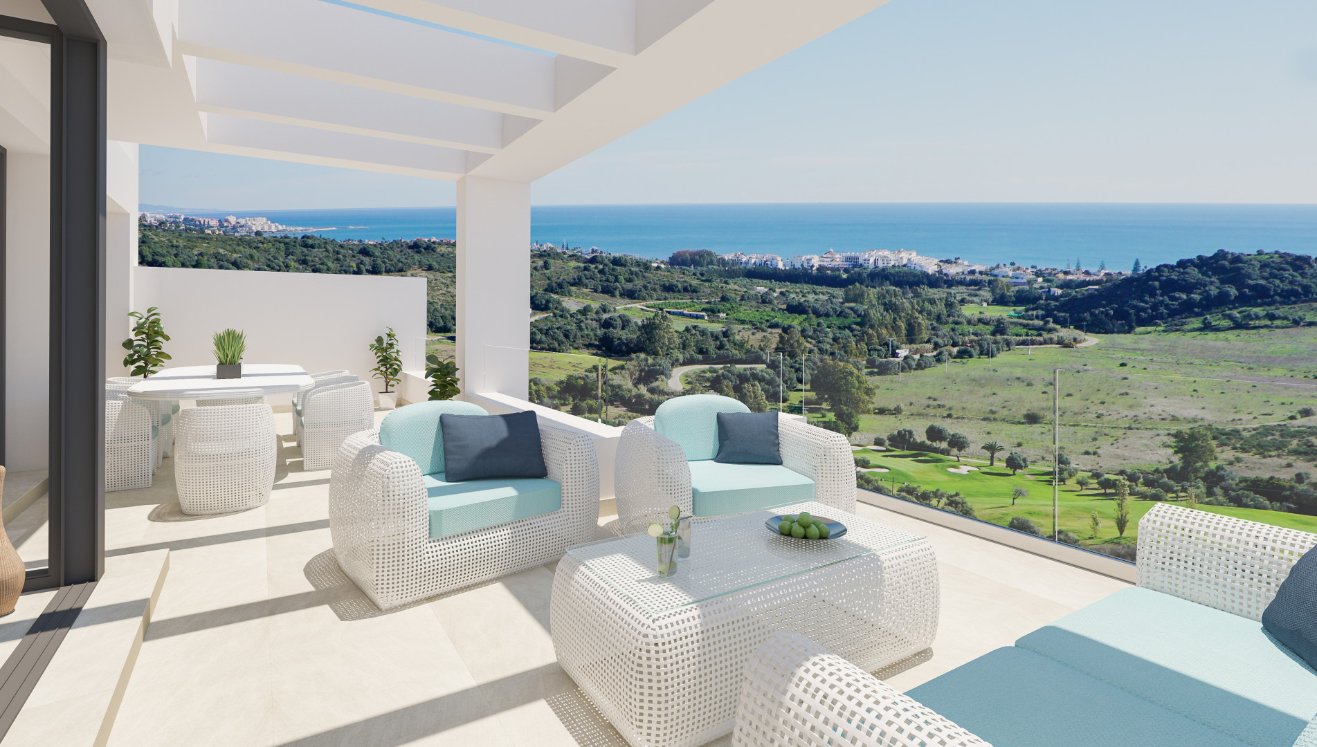 Moderne luxe zeezicht appartementen Estepona