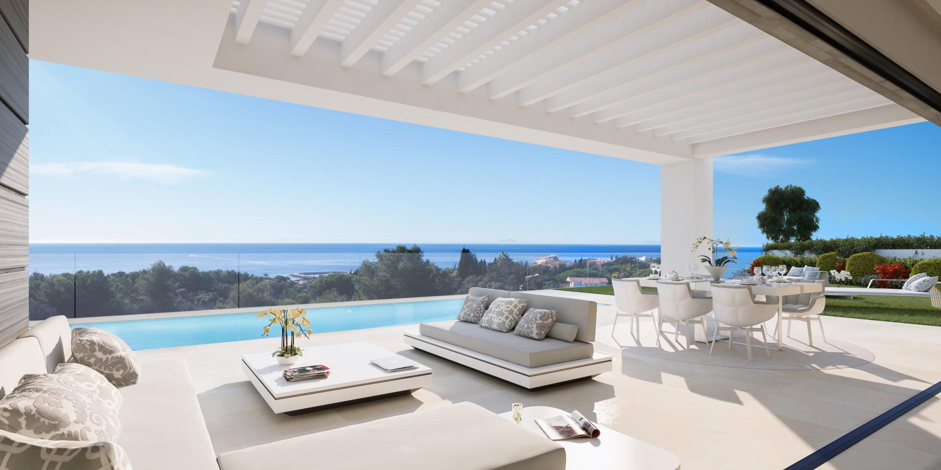 zeezicht villa's cabopino marbella