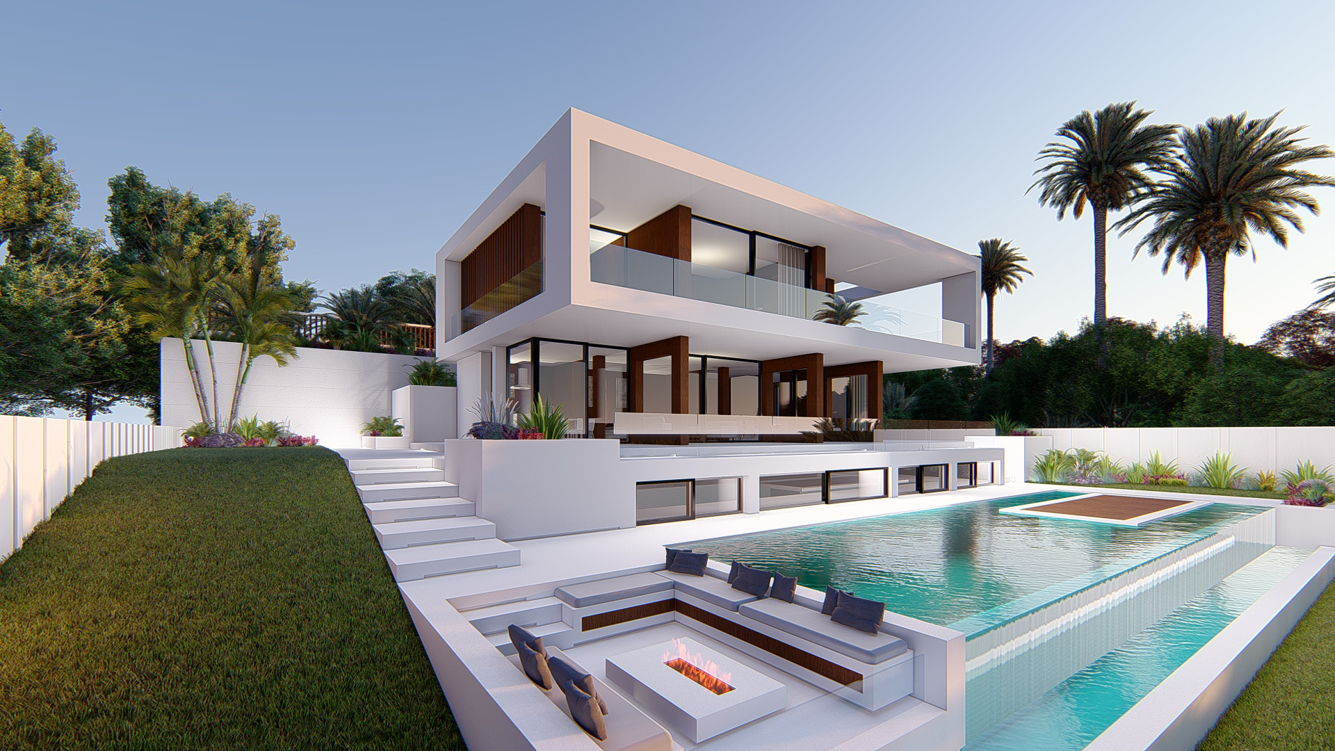 Moderne eigentijds villa project in Estepona