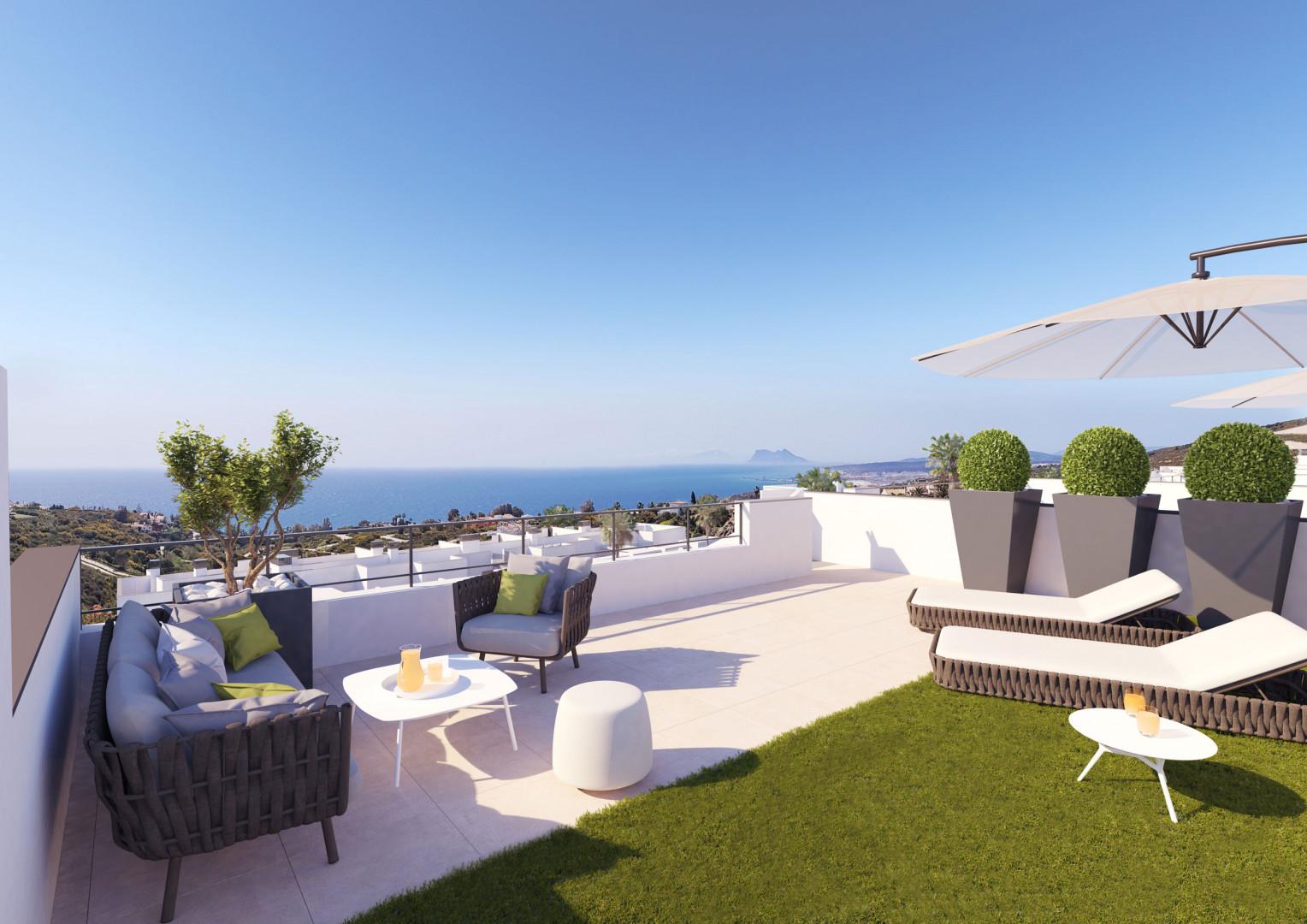 moderne zeezicht appartementen penthouse Manilva costa del sol