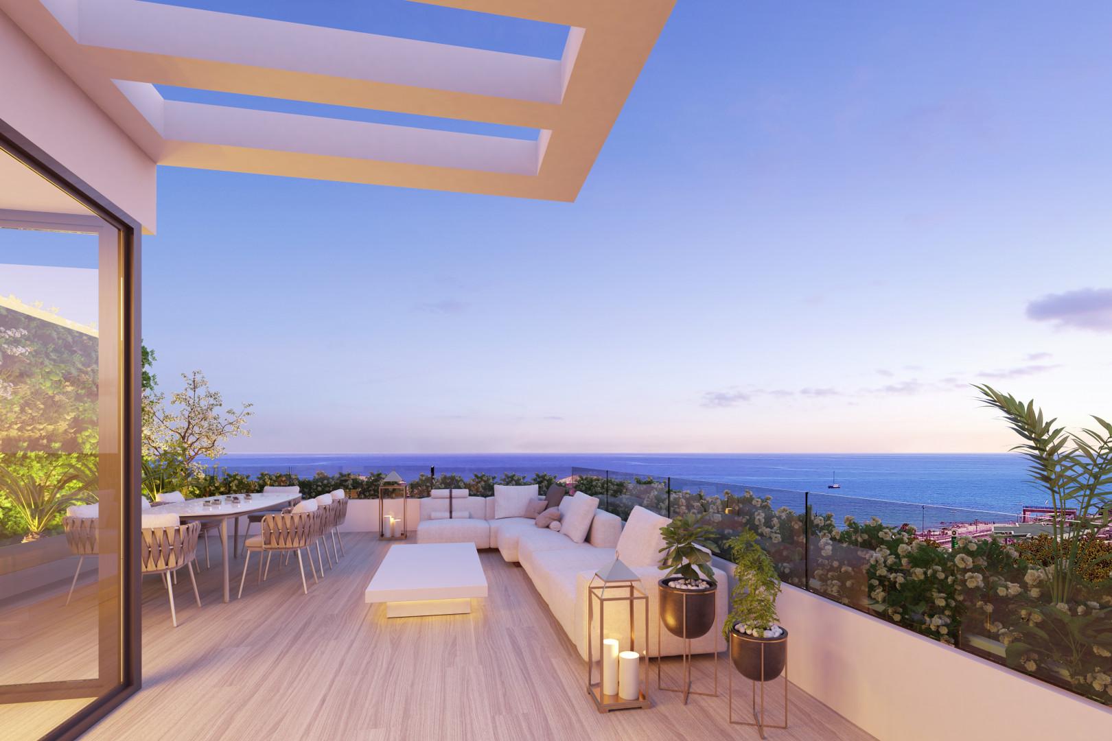 Moderne schakel woningen te koop in Mijas Costa