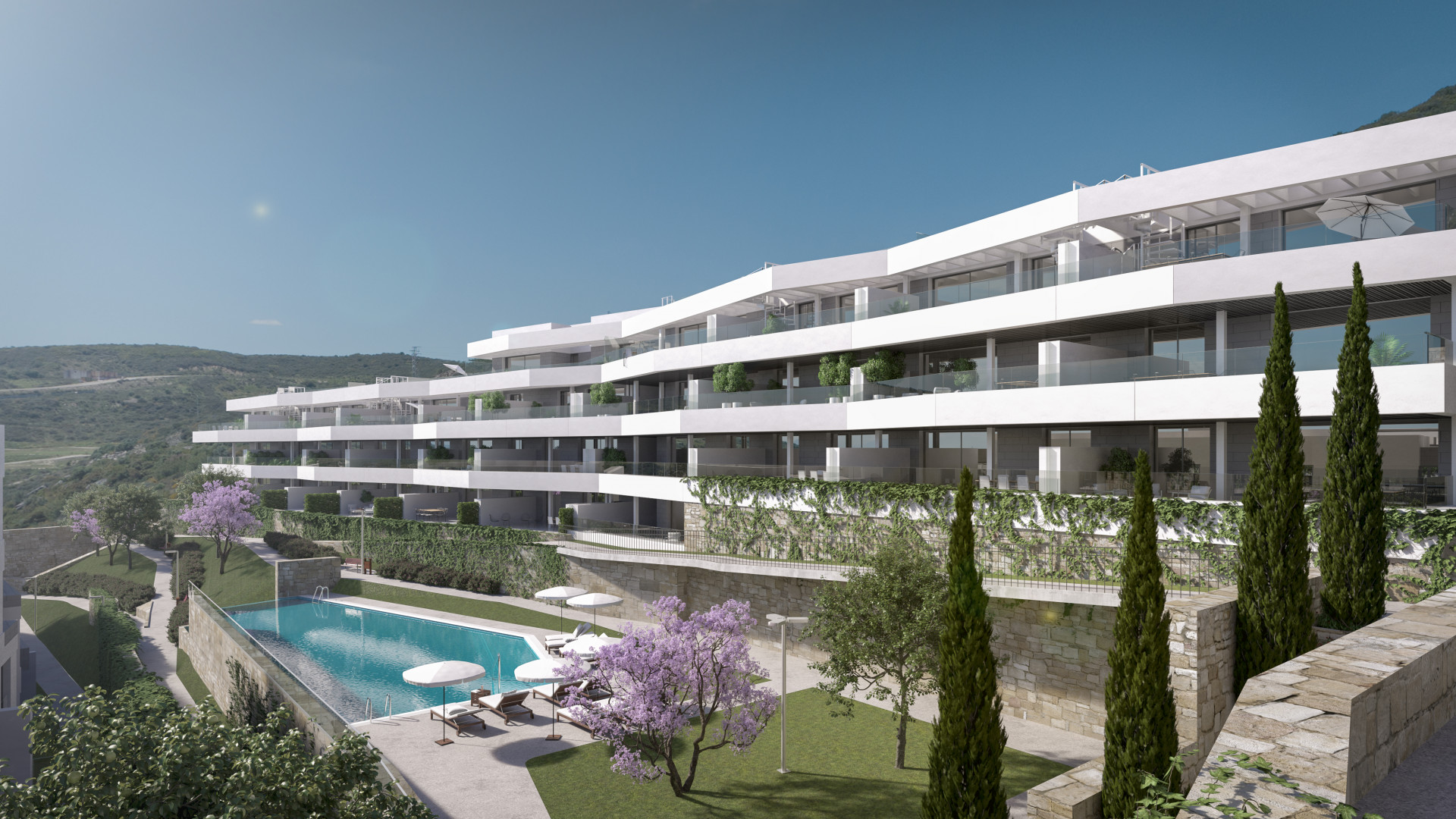 moderne golf appartementen estepona costa del sol spanje