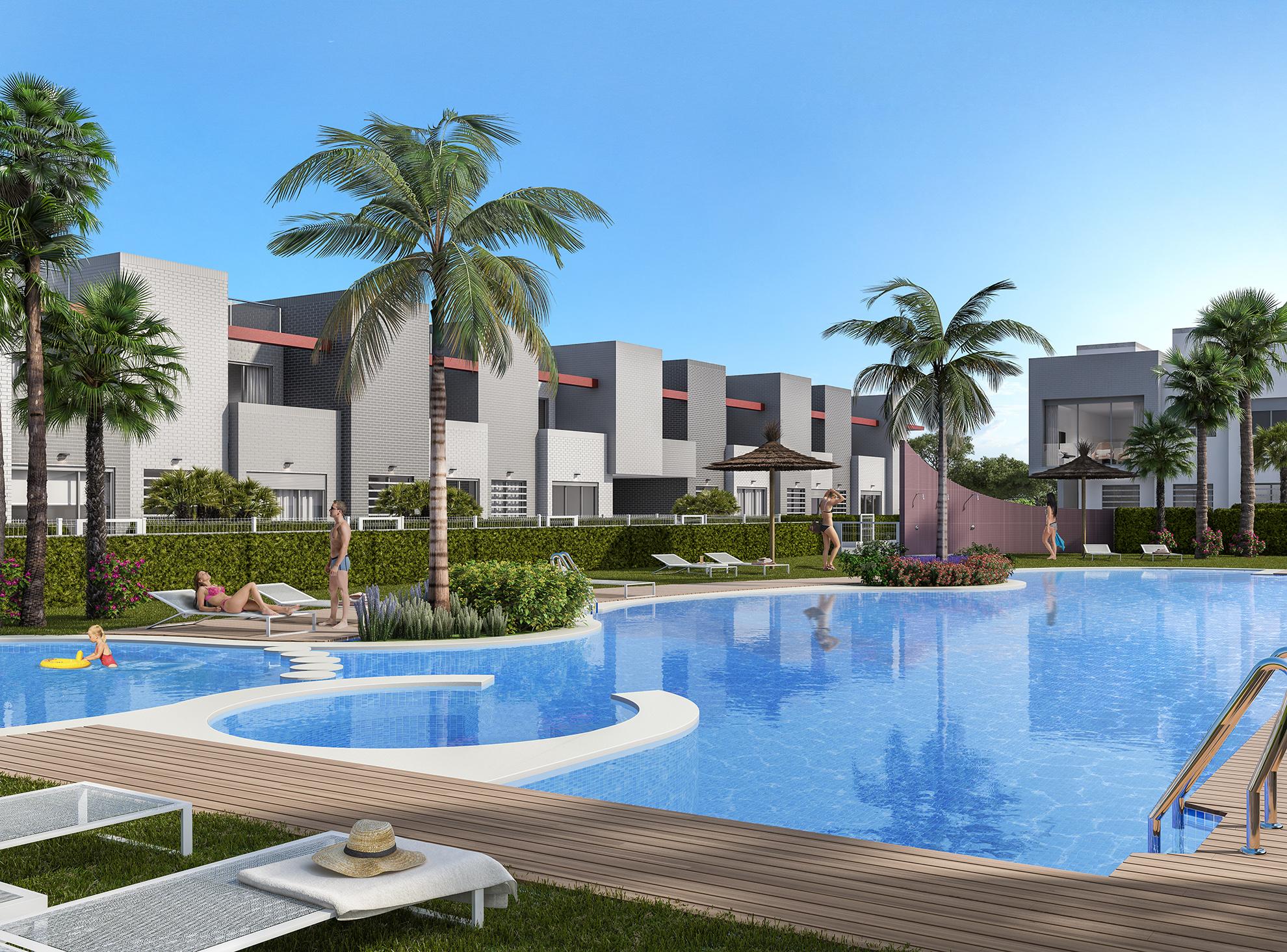Moderne appartementen op 500 meter van strand, Torrevieja