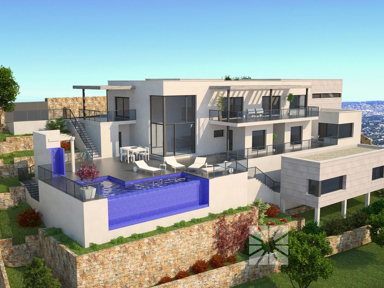 Luxe moderne villa met panoramische zeezicht Costa Blanca Noord