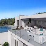 moderne nieuwbouw villa zeezicht Benitachell Spanje Costa Blanca Noord